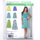 Womens Bias Gored Skirts 14 - 22 In K Designs 2 Hour Simplicity Pattern 2184