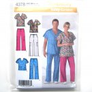 Plus Size Scrubs M  - L - XL Easy Simplicity Sewing Pattern 4378