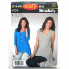 Misses Knit Tops Simplicity Easy Sewing Pattern 8005