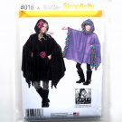Girls Misses Fleece Ponchos Patty Reed Simplicity Sewing Pattern 8018