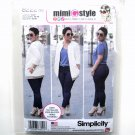 Misses Bomber Jacket Stretch Skinny Jeans Mimi G Style Simplicity Sewing Pattern 8222