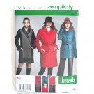 Misses Coat Jackets 6 - 14 Threads Simplicity Sewing Pattern 1015