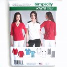 Misses Knit Tops 6 - 14 In K Designs Simplicity Sewing Pattern 1063