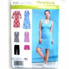 Misses Sport Dresses Tunics Shorts 8 - 16 Easy Simplicity Sewing Pattern 1111
