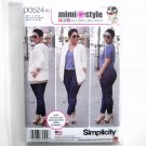 Misses Jacket Stretch Jeans 14 - 22 Mimi G Style Simplicity Sewing Pattern D0524