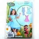 Disney Fairies Childs Girls Dress Top Capri Costumes 3 - 8 Simplicity Pattern 1925