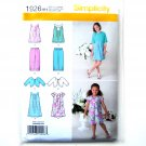 Girls Dress Tunic Cropped Pants Jacket 3 - 6 Simplicity Pattern 1926