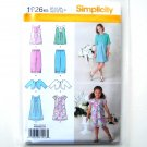 Childs Girls Dress Tunic Cropped Pants Jacket 7 - 14 Simplicity Pattern 1926
