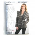 Womens Misses Jacket Coat 14 - 22 Karen Z Simplicity Sewing Pattern D0103