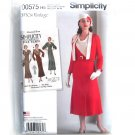Misses Vintage 1930s Dress Jacket 6 - 14 Simplicity Sewing Pattern D0575