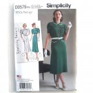 Misses Womens Vintage 1930s Dresses 12 - 20 Simplicity Sewing Pattern D0579