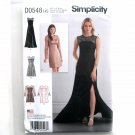 Misses Special Occasion Dresses Gown Simplicity Sewing Pattern D0548