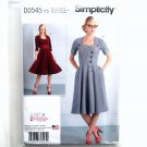 Womens Button Front Dresses 18 - 26 Simplicity Sewing Pattern D0545