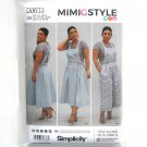 Womens Jumper Wide Leg Overall 16 - 24 Mimi G Simplicity Sewing Pattern D0633