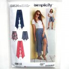 Misses Womens Wrap Front Skirt Shorts 14 - 22 Simplicity Sewing Pattern D0634