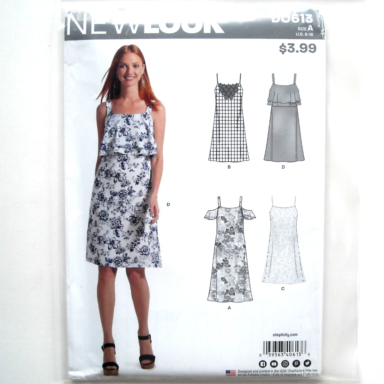 0eb77474159 Misses Dresses 8 - 18 New Look Simplicity Sewing Pattern D0613