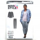 Womens Knit Jacket Skinny Jeans 14 - 22 Mimi G Style Simplicity Sewing Pattern D0619