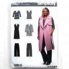 Womens Coat Vest Top Pants 18W - 24W Simplicity Sewing Pattern D0621