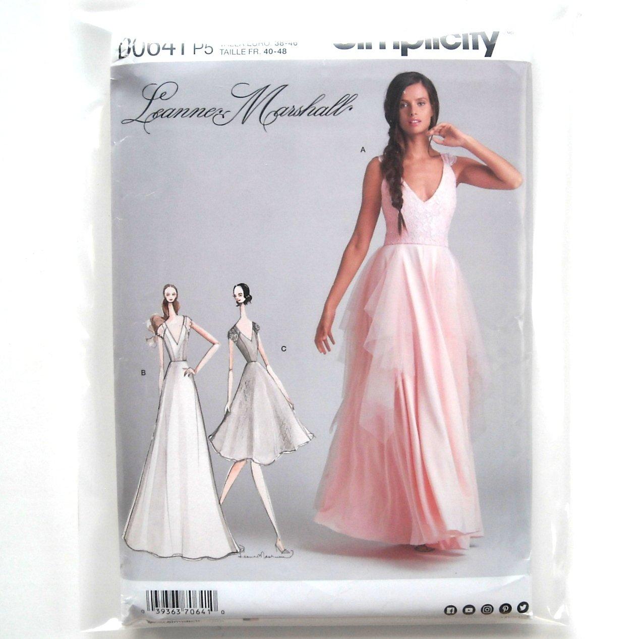 Misses Bridesmaid Bride Dresses 12 - 20 Simplicity Sewing Pattern D0641