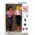Misses Womens Plus Size Knit Bodysuits Simplicity Sewing Pattern D0646