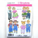 "15"" Doll Clothes Dress Overalls Wrights Design By Teri Simplicity Pattern 4268"