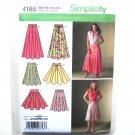 Summer Flared Skirts Belt Simplicity Pattern 4188