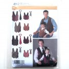Boys Mens Vests Ties Size S - XL Simplicity Pattern 4762
