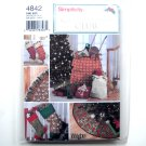 Holiday Stockings Tree Skirt Gift Bags Out Of Print Wrights Crafts Simplicity Pattern 4842