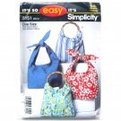 Easy Fabrics Denim Bohemian Purses Bags One Size Simplicity Pattern 5151