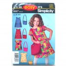 Childs Girls Dress Bag Size 3 4 5 6 7 8 Easy Simplicity Pattern 4927