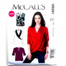 Misses Pullover Tops McCalls Sewing Pattern M6991