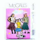 Sassy Girl Plus Tops Skirts Size 7 - 14 McCalls Sewing Pattern M5174