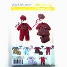 Simply Baby Romper Dress Panties XXS - L Simplicity Pattern 2347