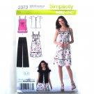 Womens Misses Pants Dress Top Jacket 6 - 14 In K Designs Simplicity Pattern 2373