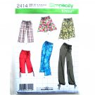 Misses 1 Hour Pants Shorts Skirt 16 - 24 Simplicity Pattern 2414