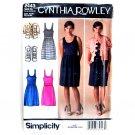Womens Misses Dress Jacket Vest 14 - 22 Cynthia Rowley Simplicity Pattern 2443