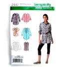 Womens Misses Shirts 6 - 14 Easy To Sew Simplicity Sewing Pattern 2447