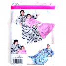 Mens Womens Lounge Fleece Blanket S - L Crafts Simplicity Sewing Pattern 2490