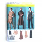 Womens Misses Jumper Pants Jacket Vest 10 - 18 Simplicity Pattern 2539