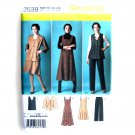 Womens Misses Jumper Pants Jacket Vest Plus Size 20W - 28W Simplicity Pattern 2539