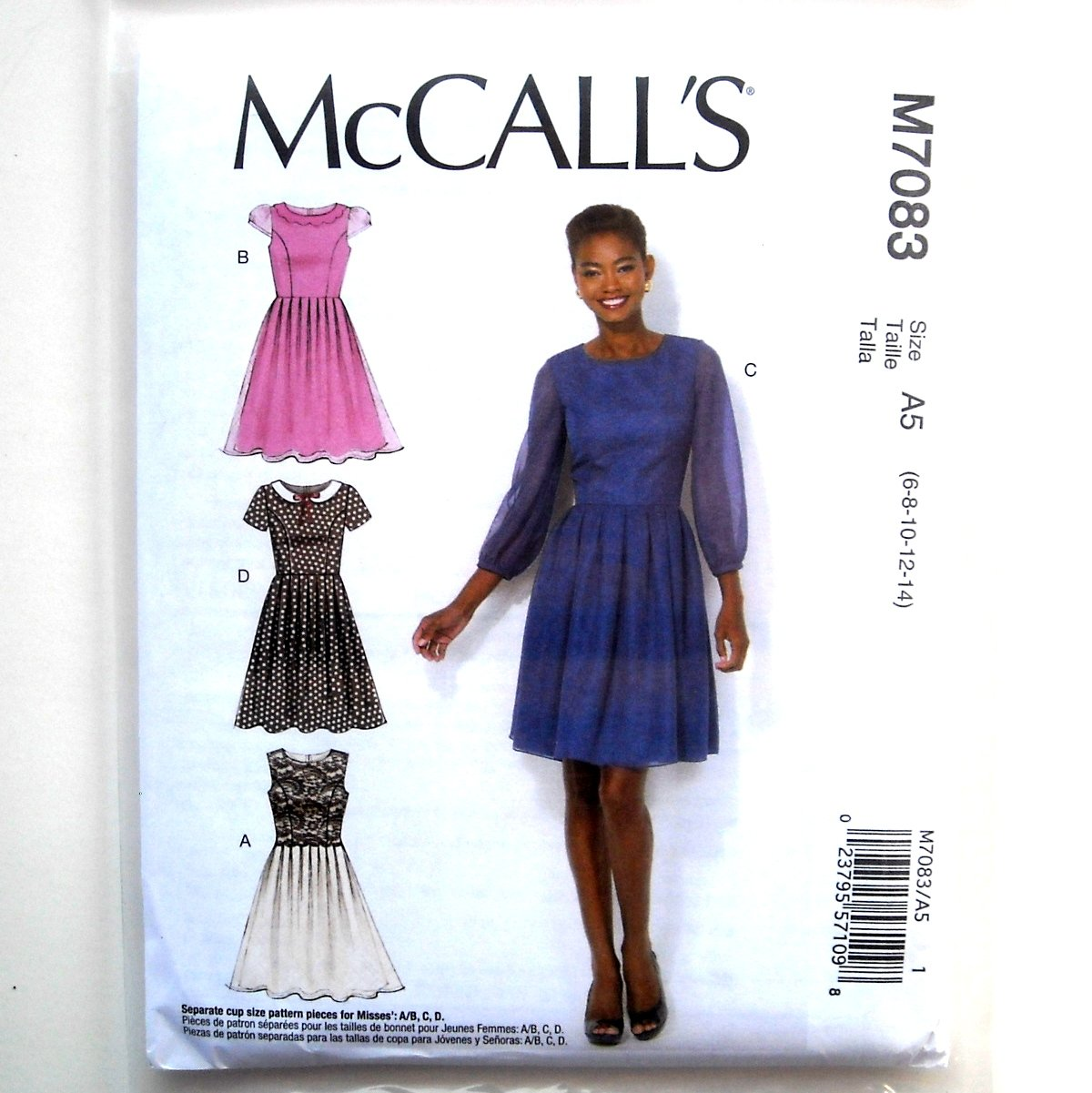 Misses Womens Pleated Skirt Dresses 6 8 10 12 14 McCalls Sewing Pattern M7083