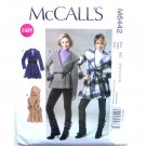 Misses Lined Coats 6 8 10 12 14 Out Of Print McCalls Sewing Pattern M6442