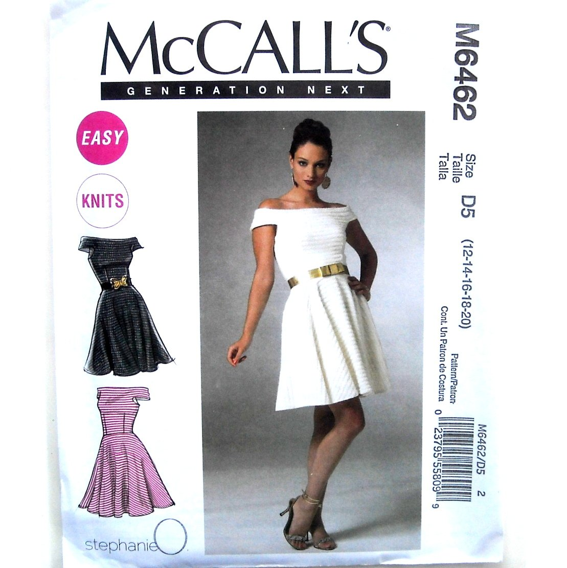 Misses Dress 12 14 16 18 20 Out Of Print McCalls Sewing Pattern M6462