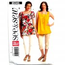 Misses Womens Pullover Summer Top 16 18 20 22 24 See Sew Butterick Pattern B5345