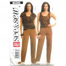 Misses Vest Top Pants 8 10 12 14 See Sew Butterick Pattern B5205