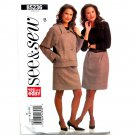 Misses Unlined Jacket Straight Skirt 16 18 20 22 See Sew Butterick Pattern B5236