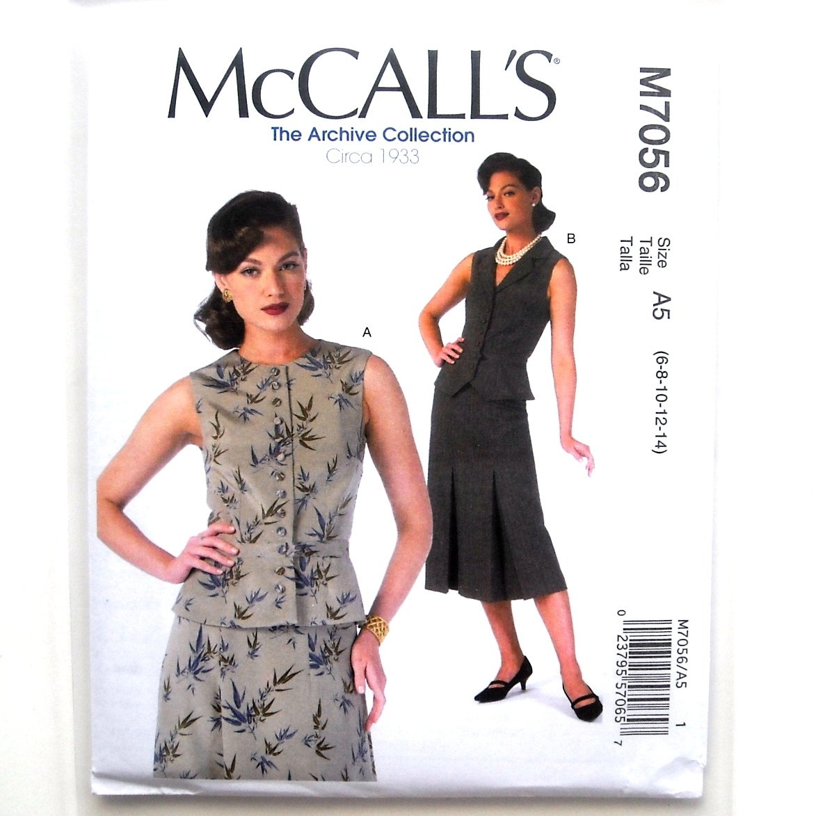 Misses Vests McCalls Sewing Pattern M7056