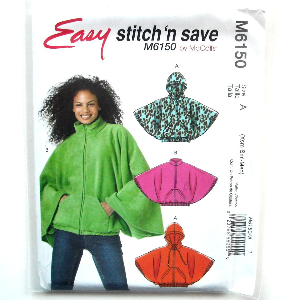 Misses Capelets XS S M McCalls Sewing Pattern M6150