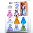 9 Sew Easy Girls Fancy Dress 6 - 8 Butterick Pattern 3350