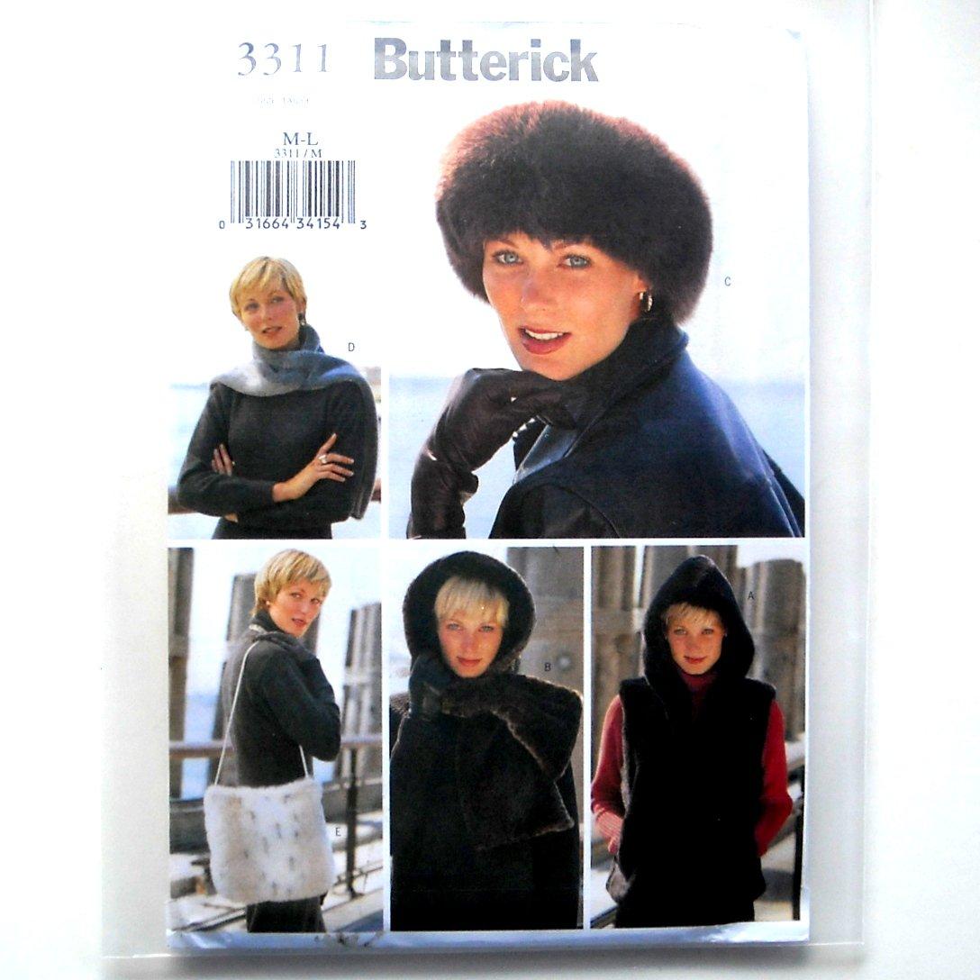 Butterick Pattern 3311 Size M - L Misses Vest Headwrap Headband Scarf Bag